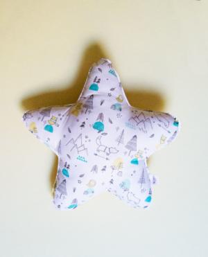 cojín bebé infantil decoración estrella mint