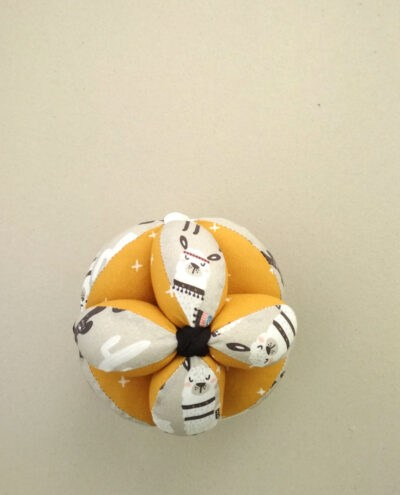 pelota montessori algodon orgánico zoo